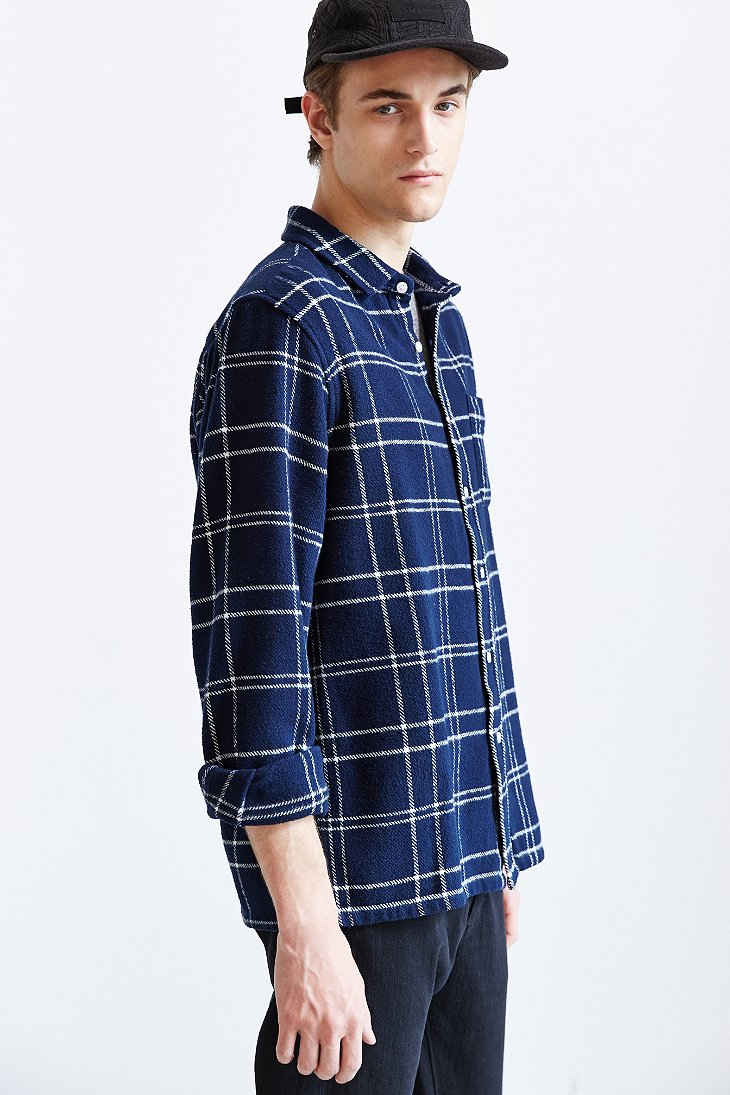 Lyst Urban Outfitters Obey Heavy Flannel Button Down