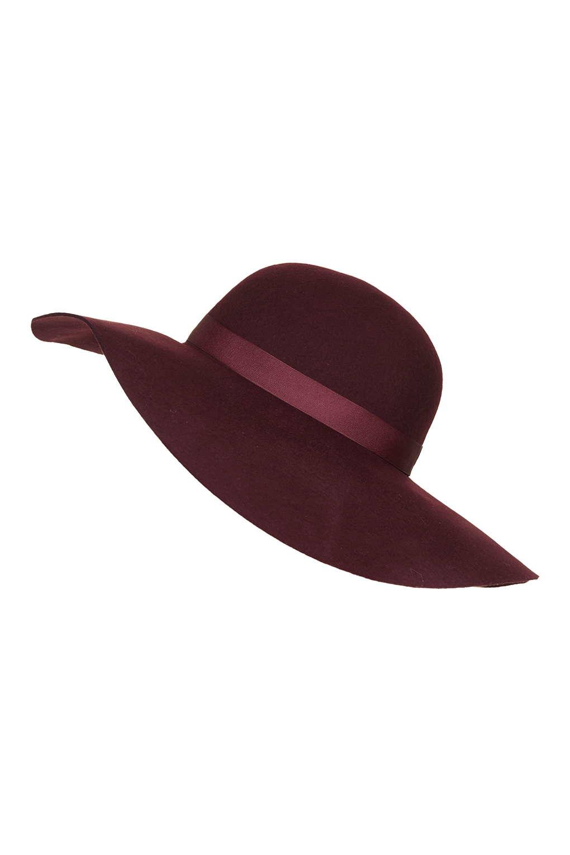 82faefe7b68703 Lyst - TOPSHOP Straight Brim Floppy Hat in Purple