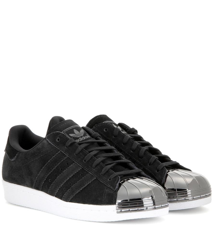 adidas superstar 80s metal toe sneakers in black lyst. Black Bedroom Furniture Sets. Home Design Ideas