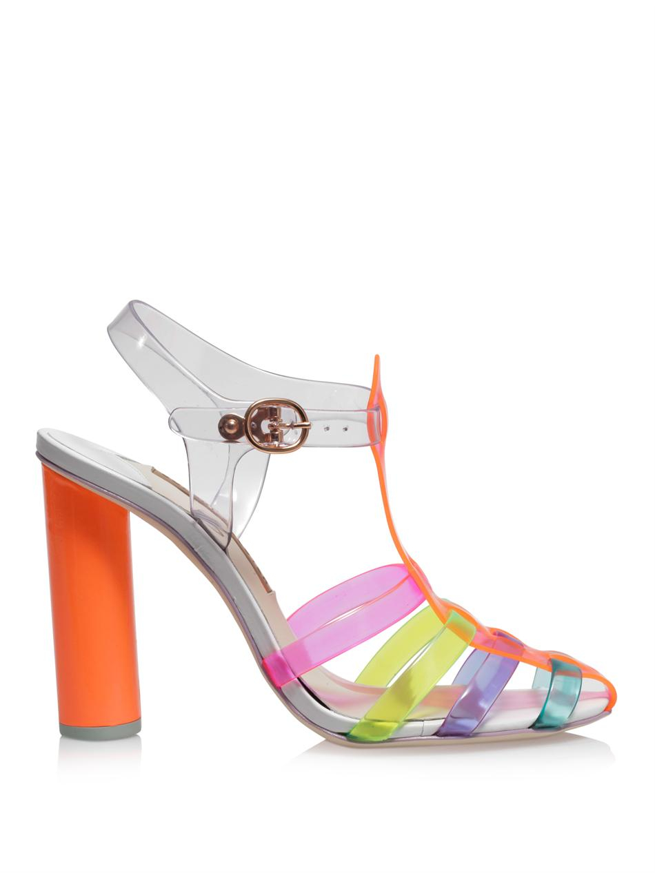 Sophia Webster Rosa Jelly Sandals In Pink Lyst