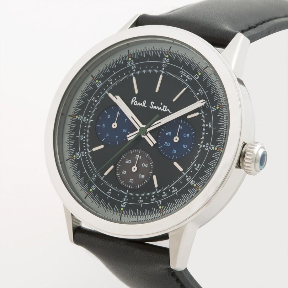 paul smith men s black precision watch in metallic for men lyst gallery