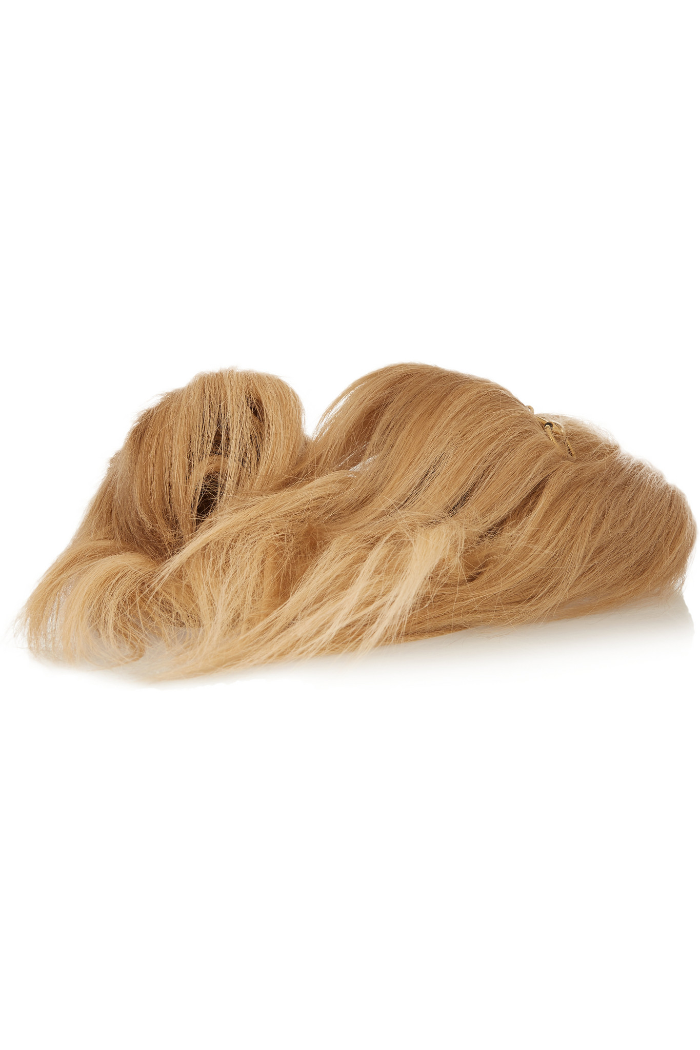 Lyst - Gucci Horsebit-detailed Goat Hair Slippers In Natural