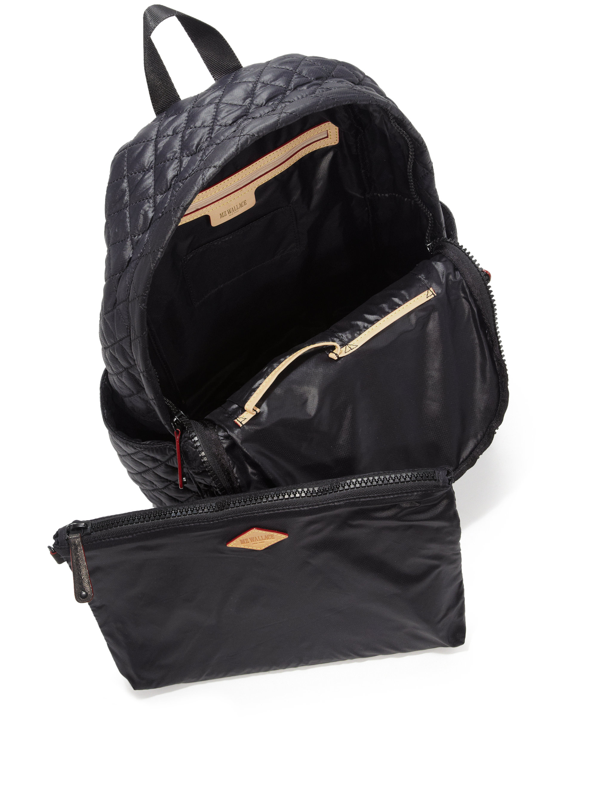 Mz Wallace Metro Quilted Nylon Backpack In Black Lyst