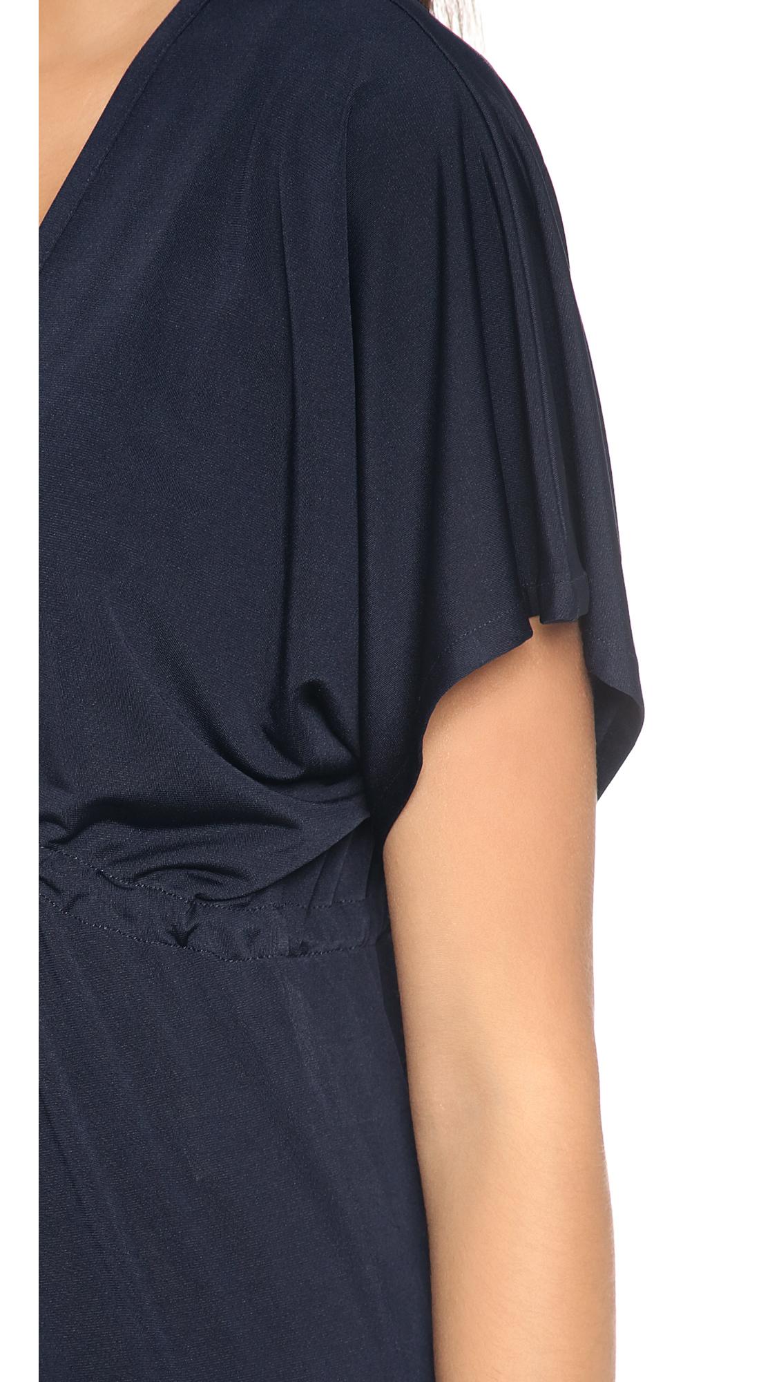 Lyst Josa Tulum Rustic Cover Up Dress Black In Blue