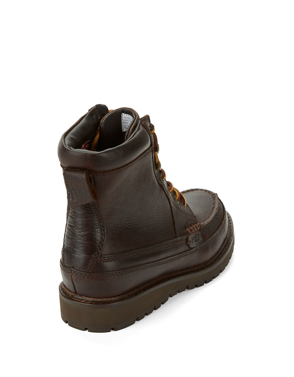 Polo ralph lauren Willingcott Leather Boots in Black for ...
