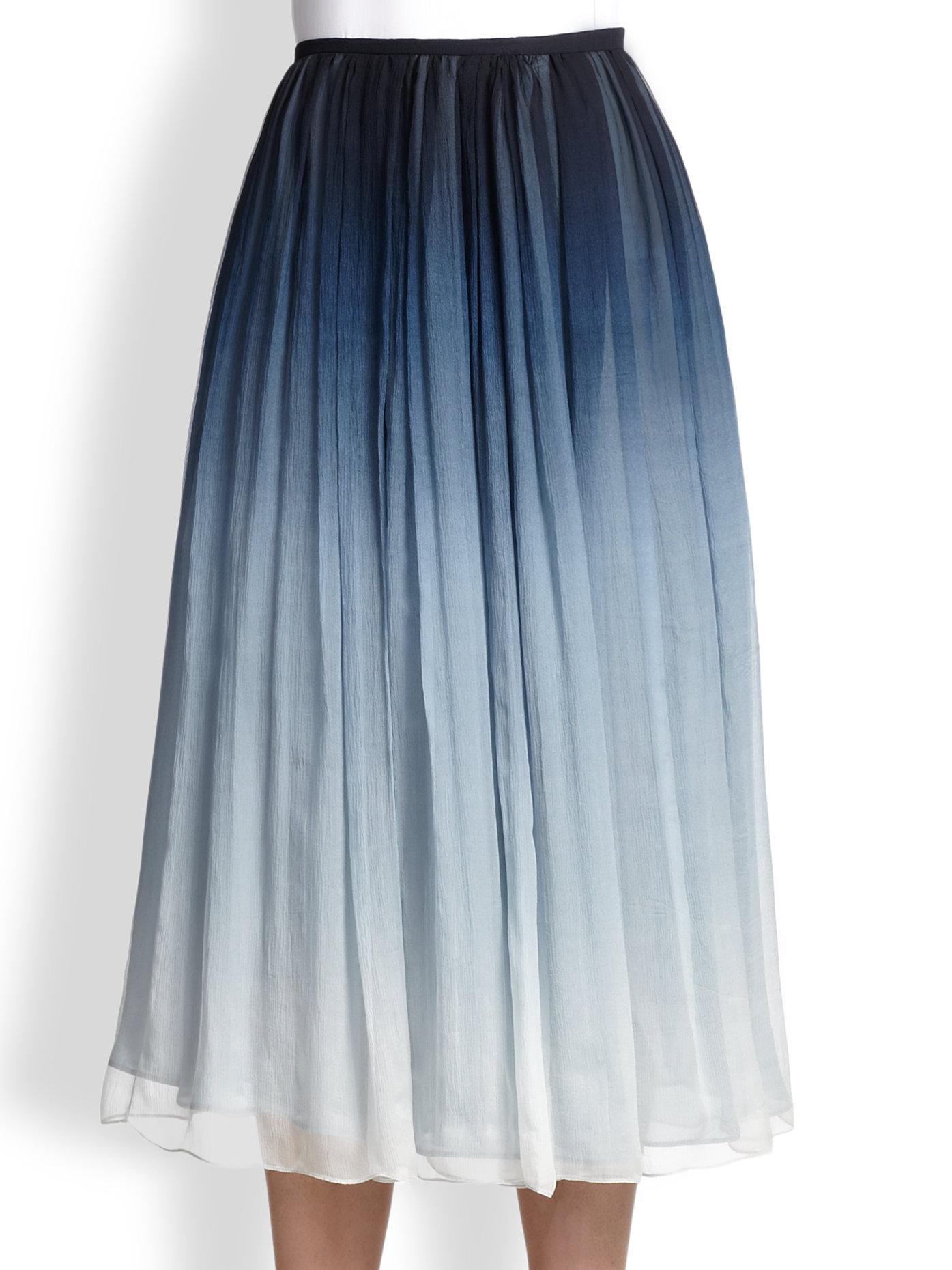burberry prorsum degrad 201 silk skirt in blue lyst