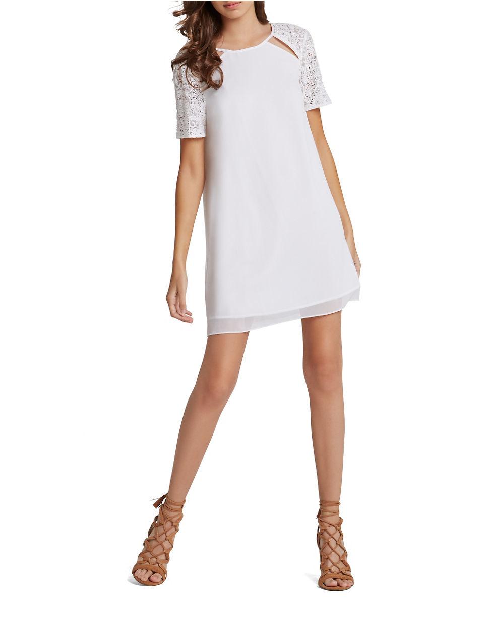 Shift Chiffon Dress