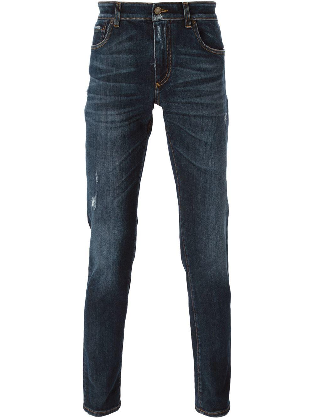 dolce gabbana slim fit jeans in blue for men lyst. Black Bedroom Furniture Sets. Home Design Ideas