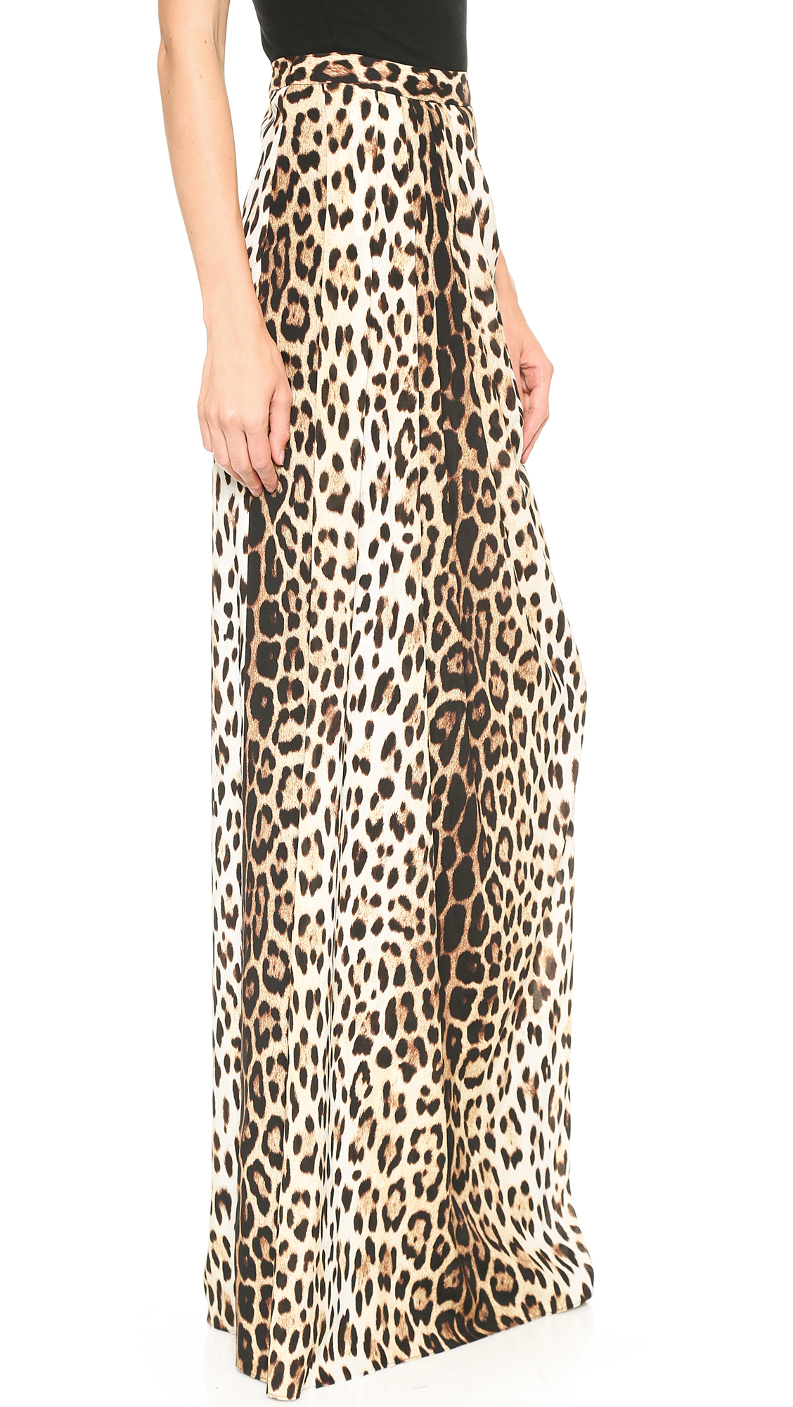 moschino cheap and chic leopard maxi skirt leopard in