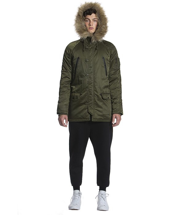 Members only Hooded Military Snorkel Parka in Green for Men | Lyst