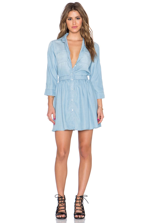 Lyst Sam Edelman Tessie Chambray Shirt Dress In Blue