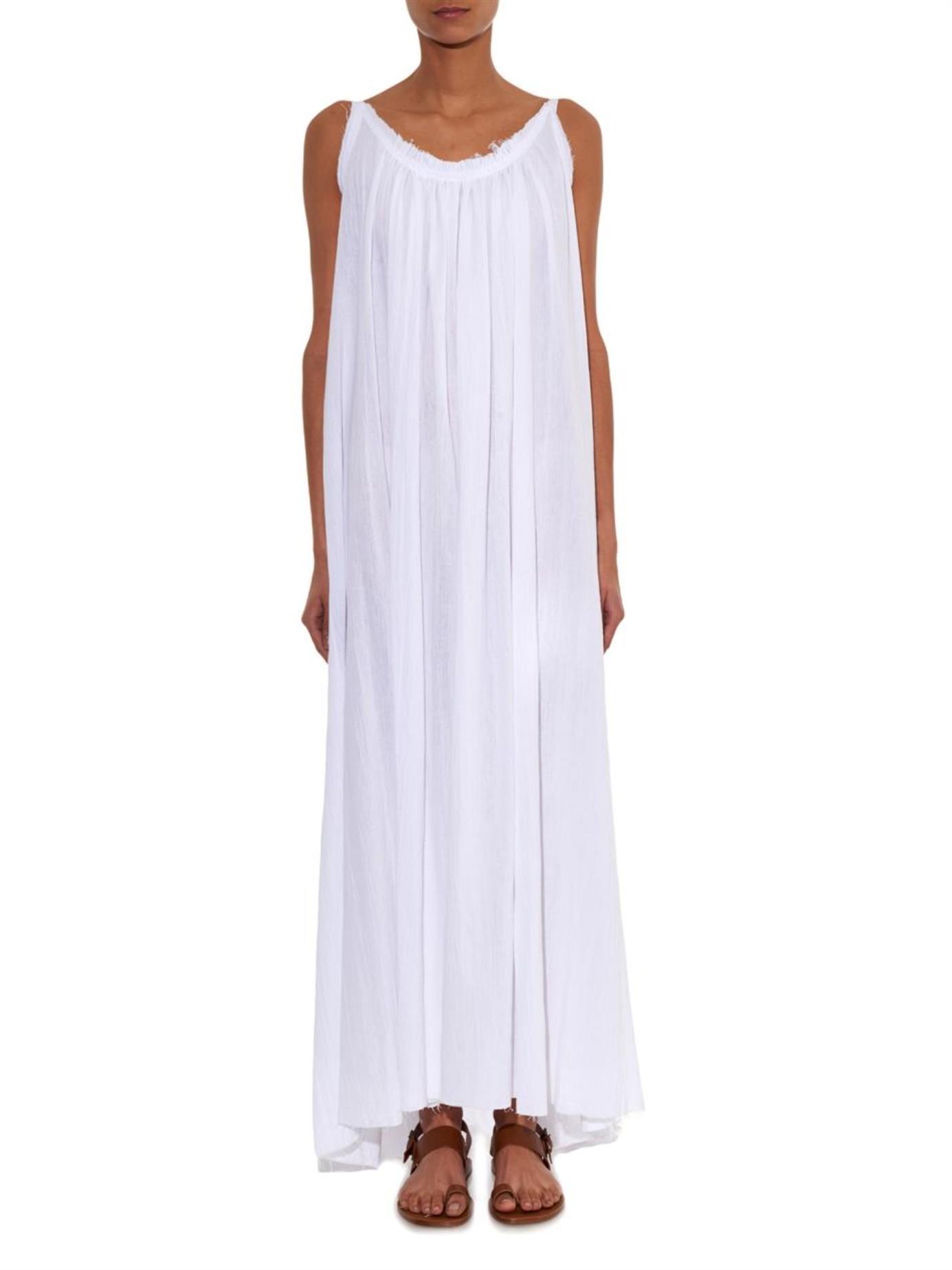 Lyst - Loup Charmant Cotton-Seersucker Maxi Dress in White