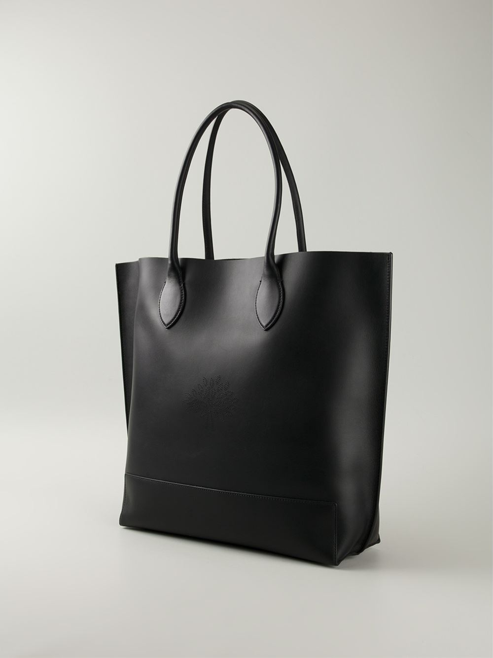Lyst Mulberry Blossom Shopper Tote In Black