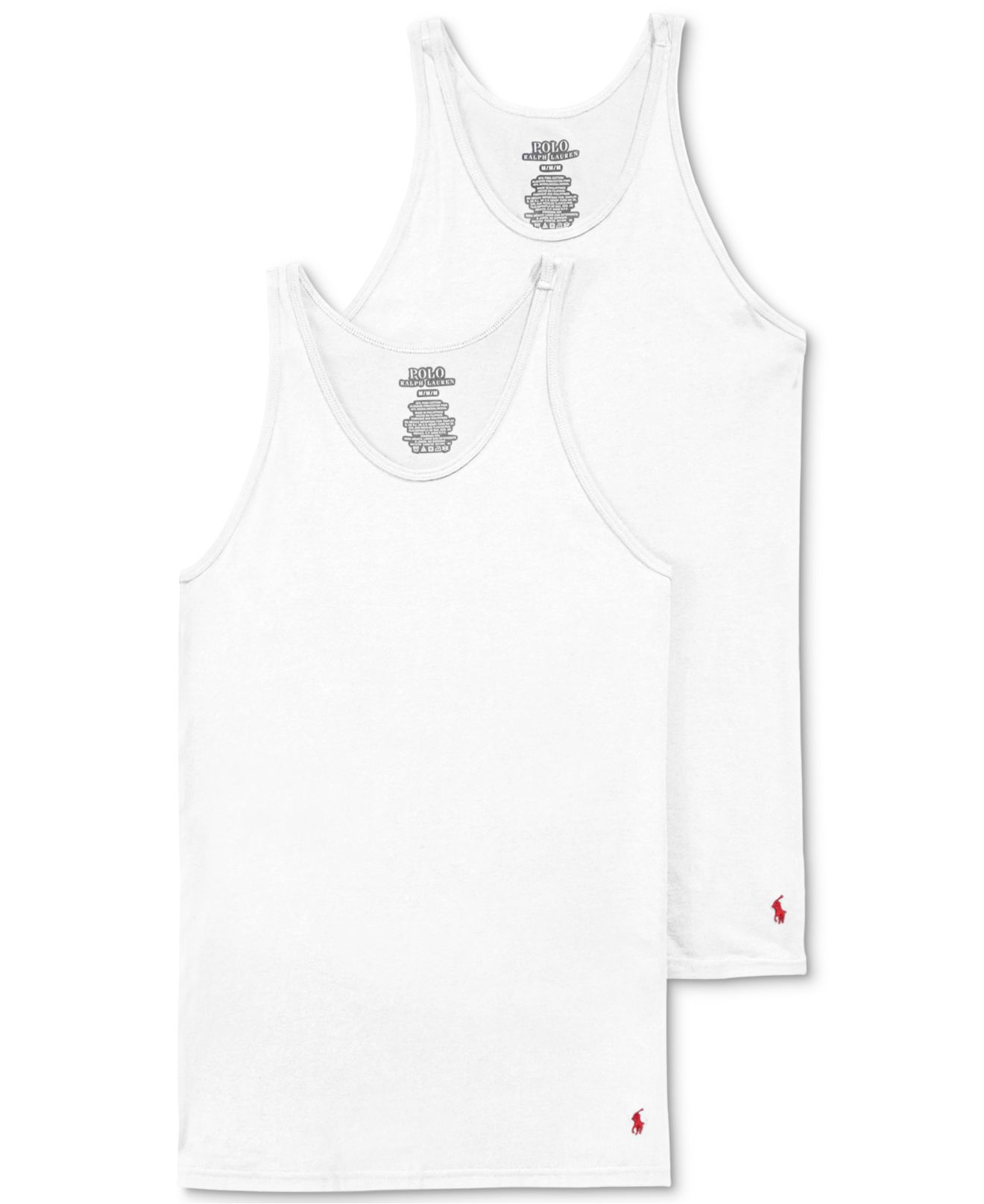 aff6181ca543b Lyst - Polo Ralph Lauren Men s Supreme Comfort Tank 2-pack in White ...