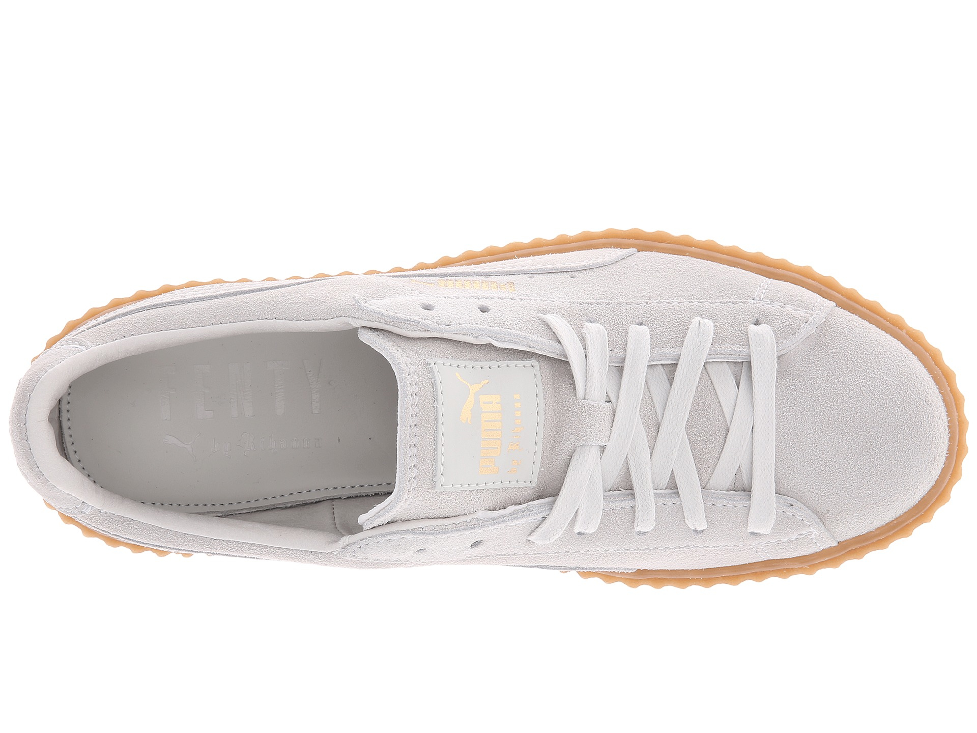d97534c203375a Lyst - PUMA Rihanna X Suede Creepers in White