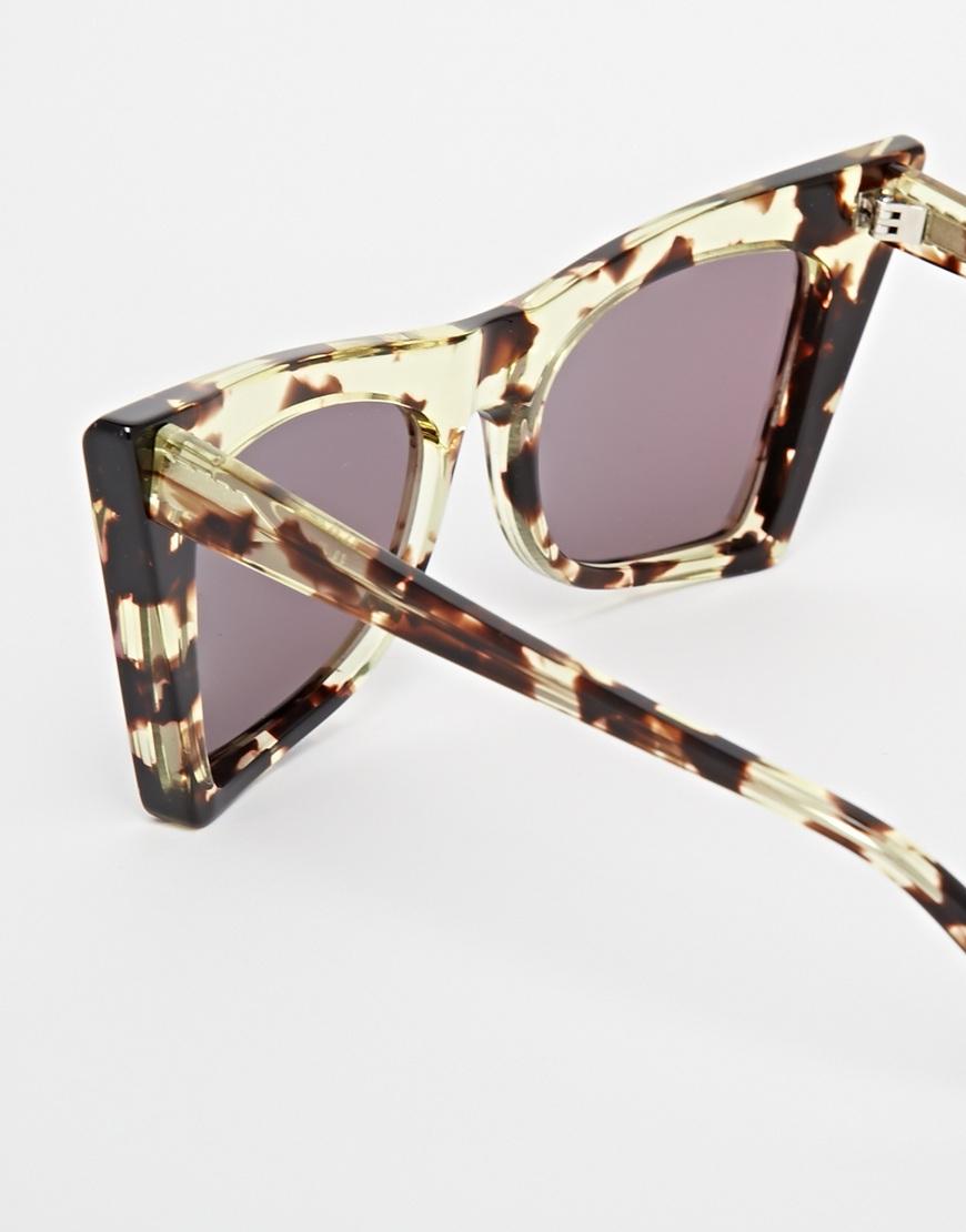 2fcbde1e65bf2 Wildfox Ivy Deluxe Mirror Cat Eye Sunglasses in Blue - Lyst