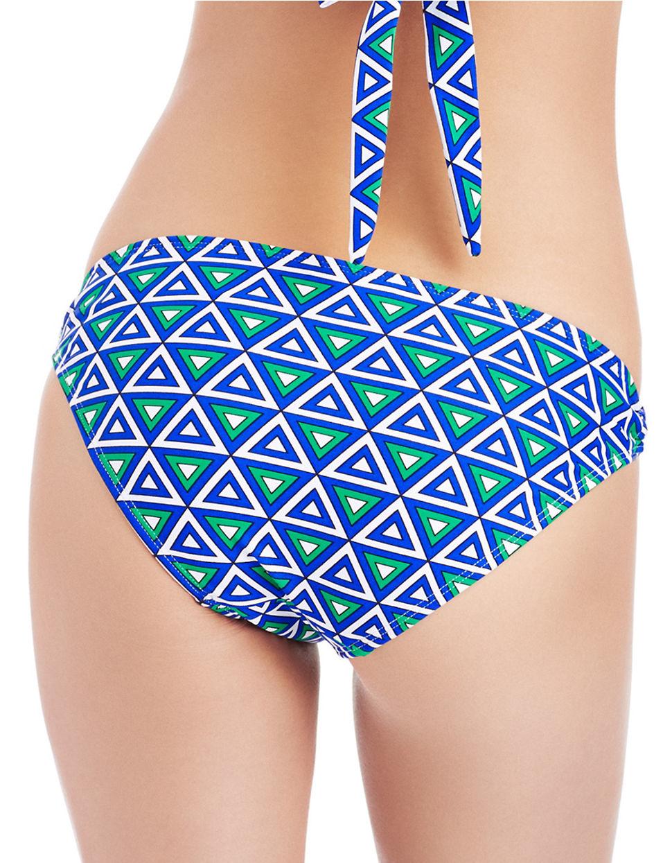 52953877646 Shoshanna Printed Ring Bikini Swim Briefs in Blue - Lyst