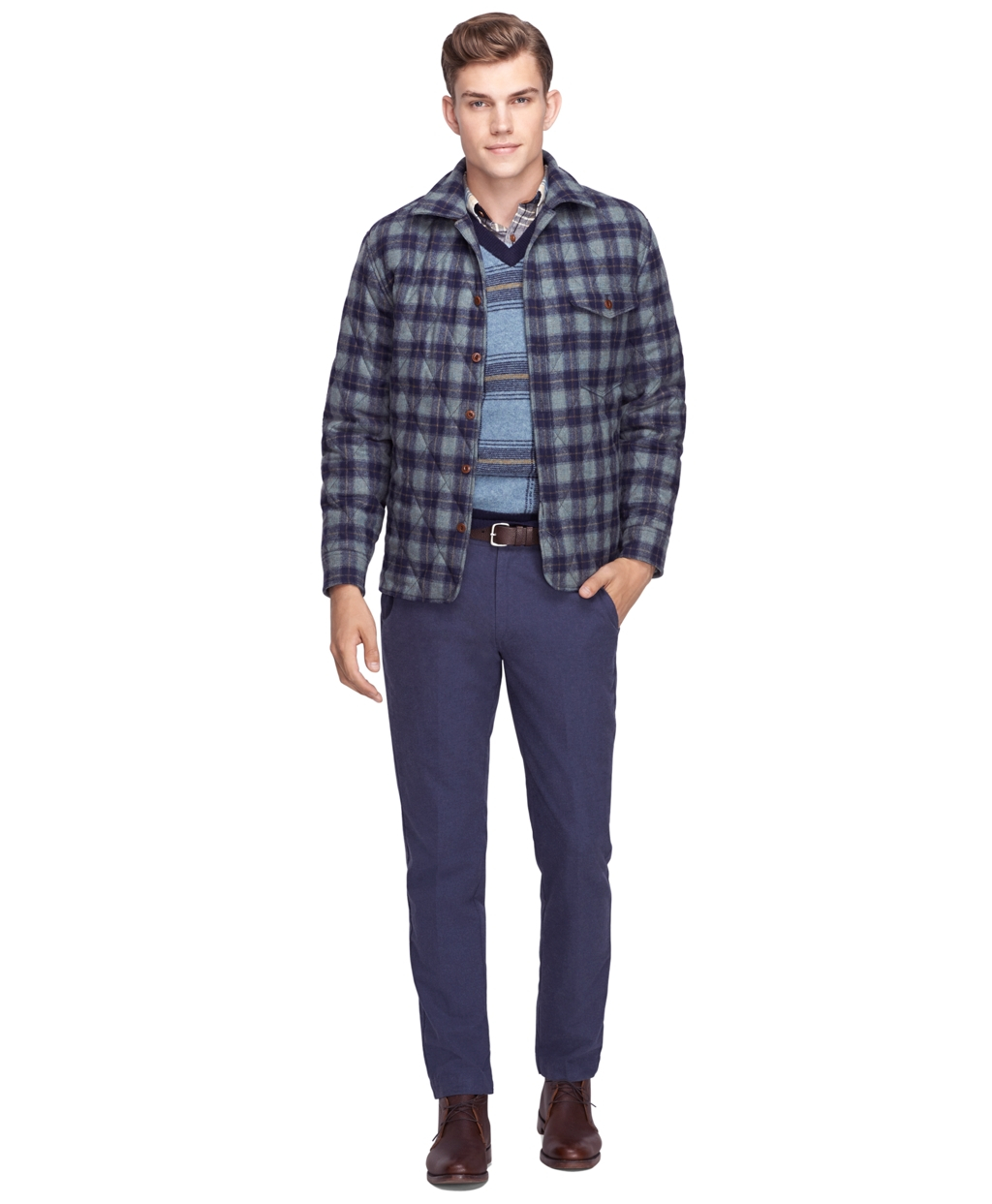 Lyst Brooks Brothers Pendleton Quilted Shirt Jacket In