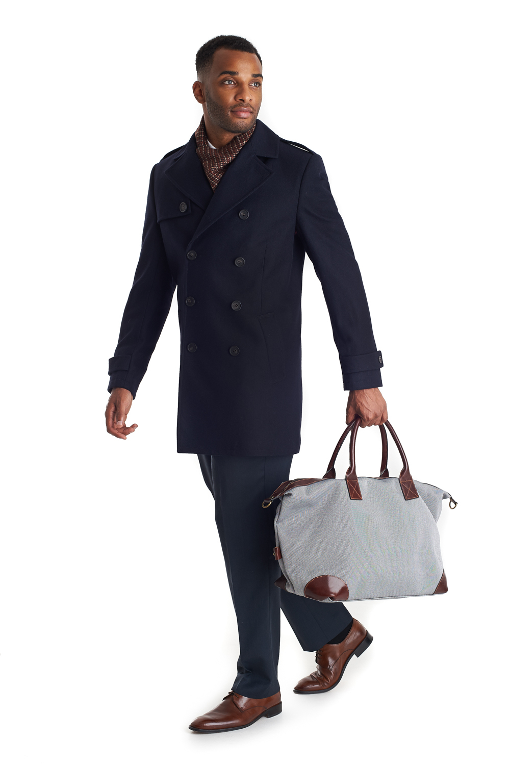 French connection Tailored Fit Double Breasted Jacket Navy in Blue ...