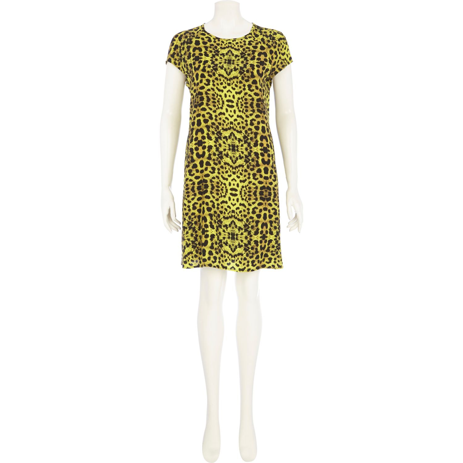 River Island Lime Leopard Print Swing Dress In Green Lyst