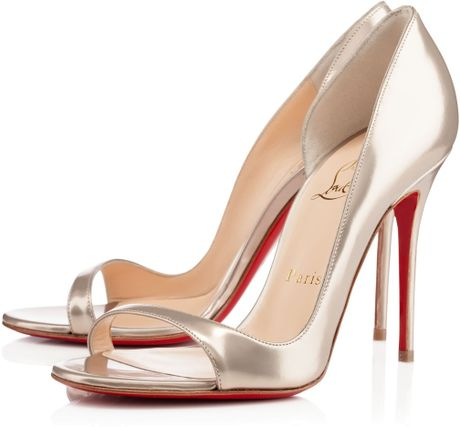 christian louboutin imitations - Golden Chain :: christian louboutin tobogganing specchio red sole ...