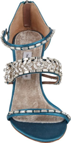 Tabitha Simmons Fitzgerald Crystalstrap Sandals In Blue Lyst