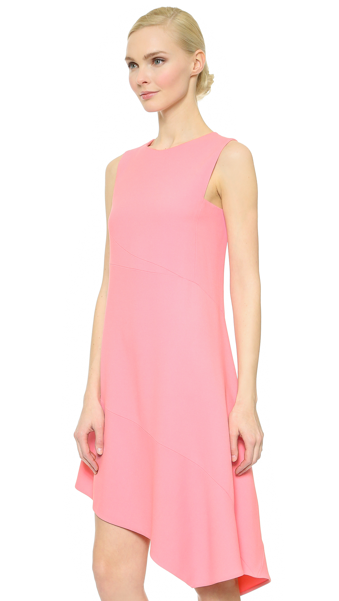 Narciso rodriguez Sleeveless Dress - Pink in Pink - Lyst