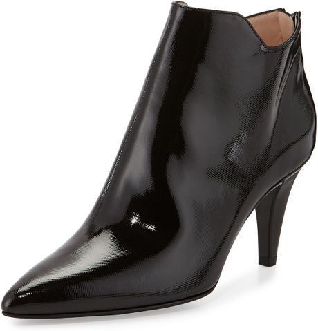 aquatalia by marvin k sala patent leather ankle boots in