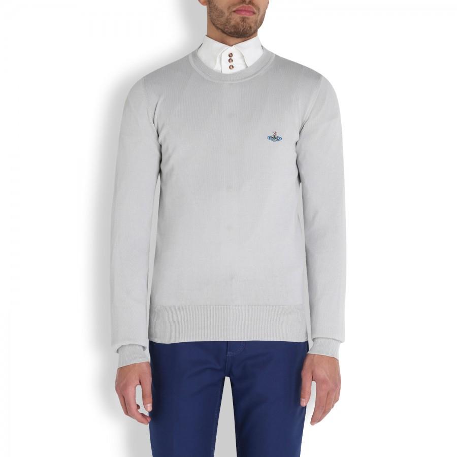 e36aefe1f520b Vivienne Westwood Fine Knit Cotton Jumper in Gray for Men - Lyst