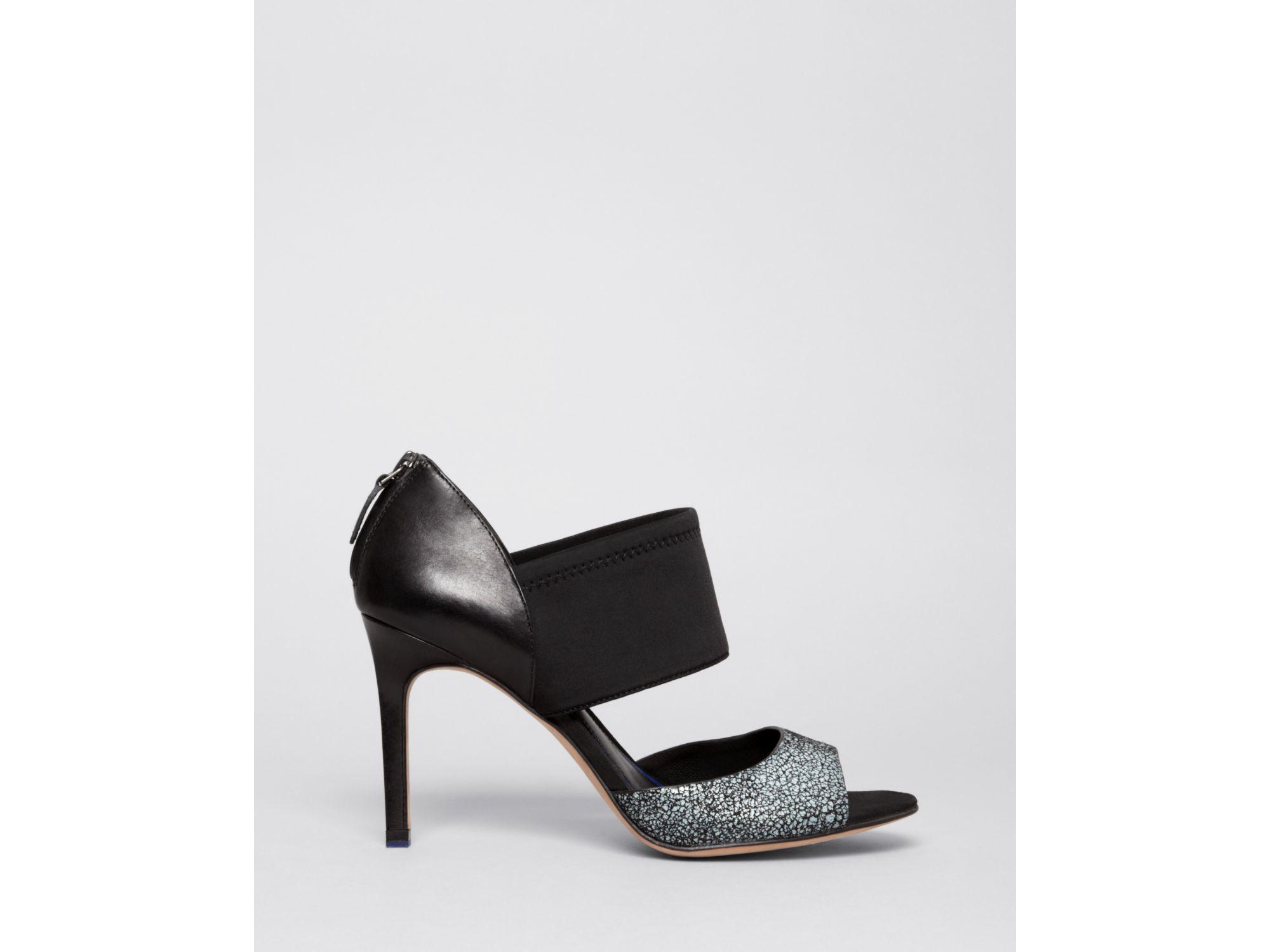 e5c9e538603 Lyst - Elie Tahari Open Toe Platform Pumps - Indra High Heel in Black