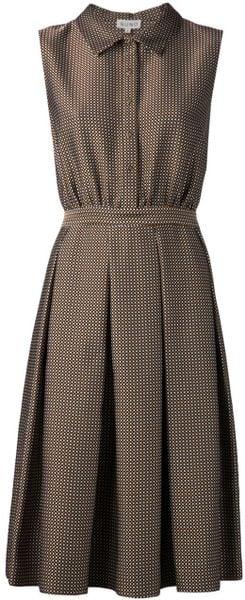 Suno Collared Polka Dot Dress In Multicolor Brown Lyst