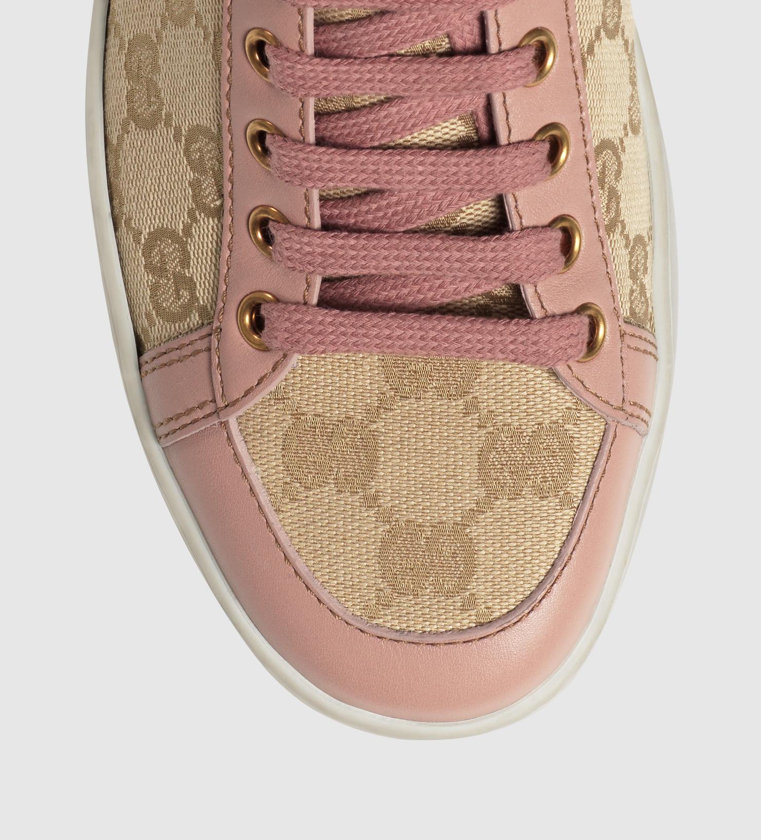 57e211d3cbe6 Lyst - Gucci Brooklyn Original Gg Canvas High-top Sneaker in Natural