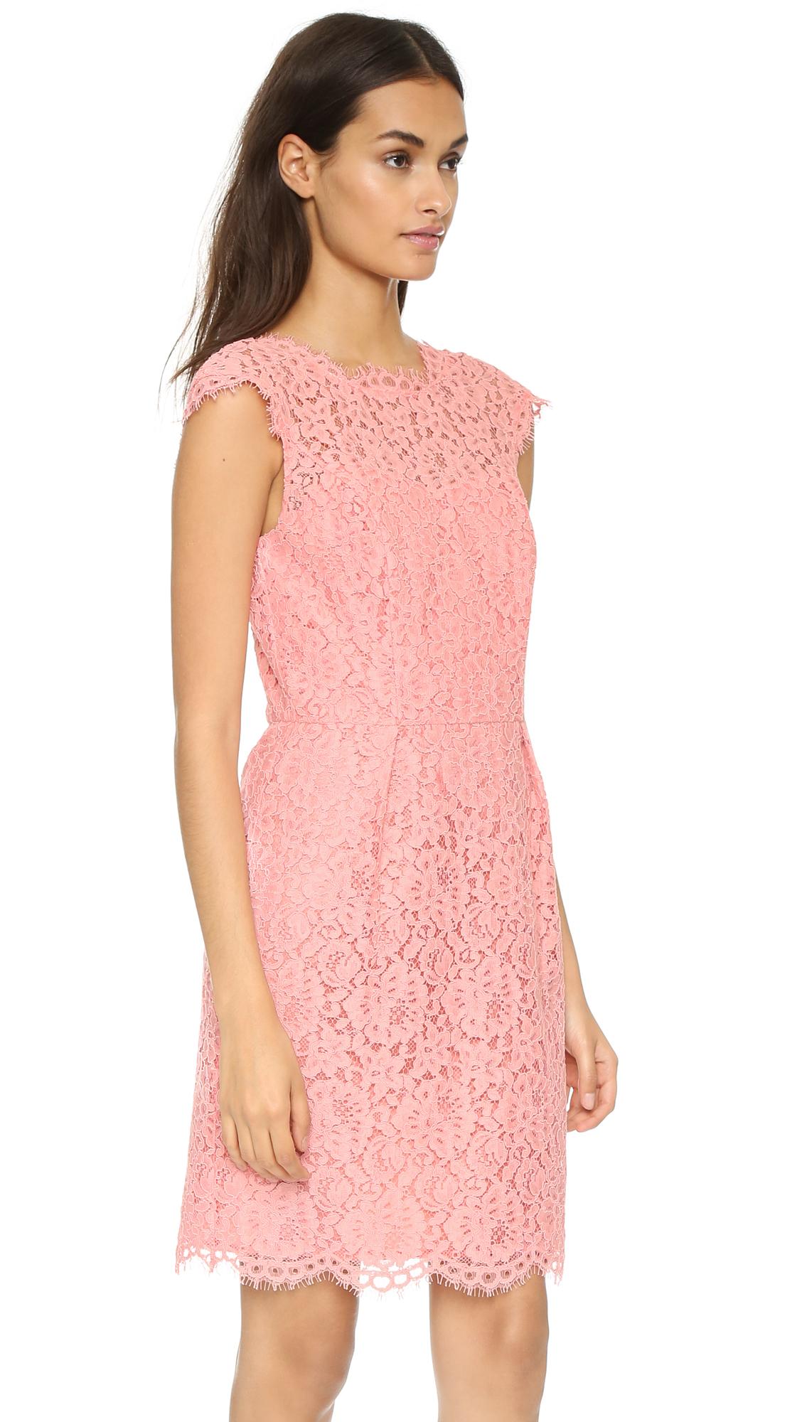 Shoshanna Olivia Dress - Peach in Pink   Lyst