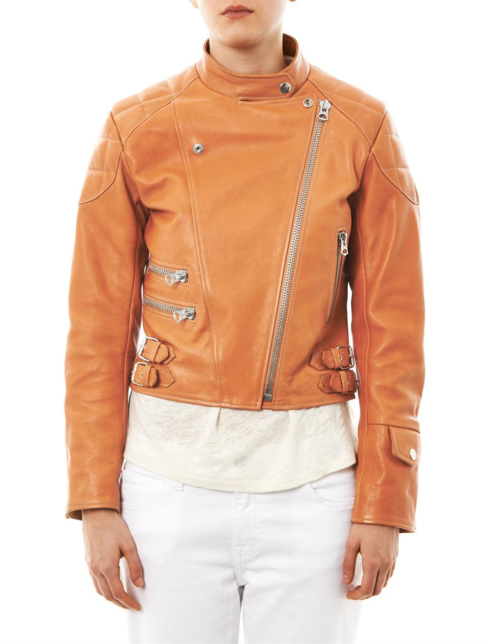 acne moi leather jacket
