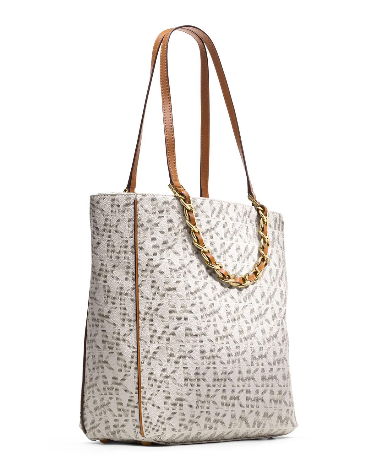 a30927872617 ... get lyst michael michael kors large harper tote in natural 442df 34e1a
