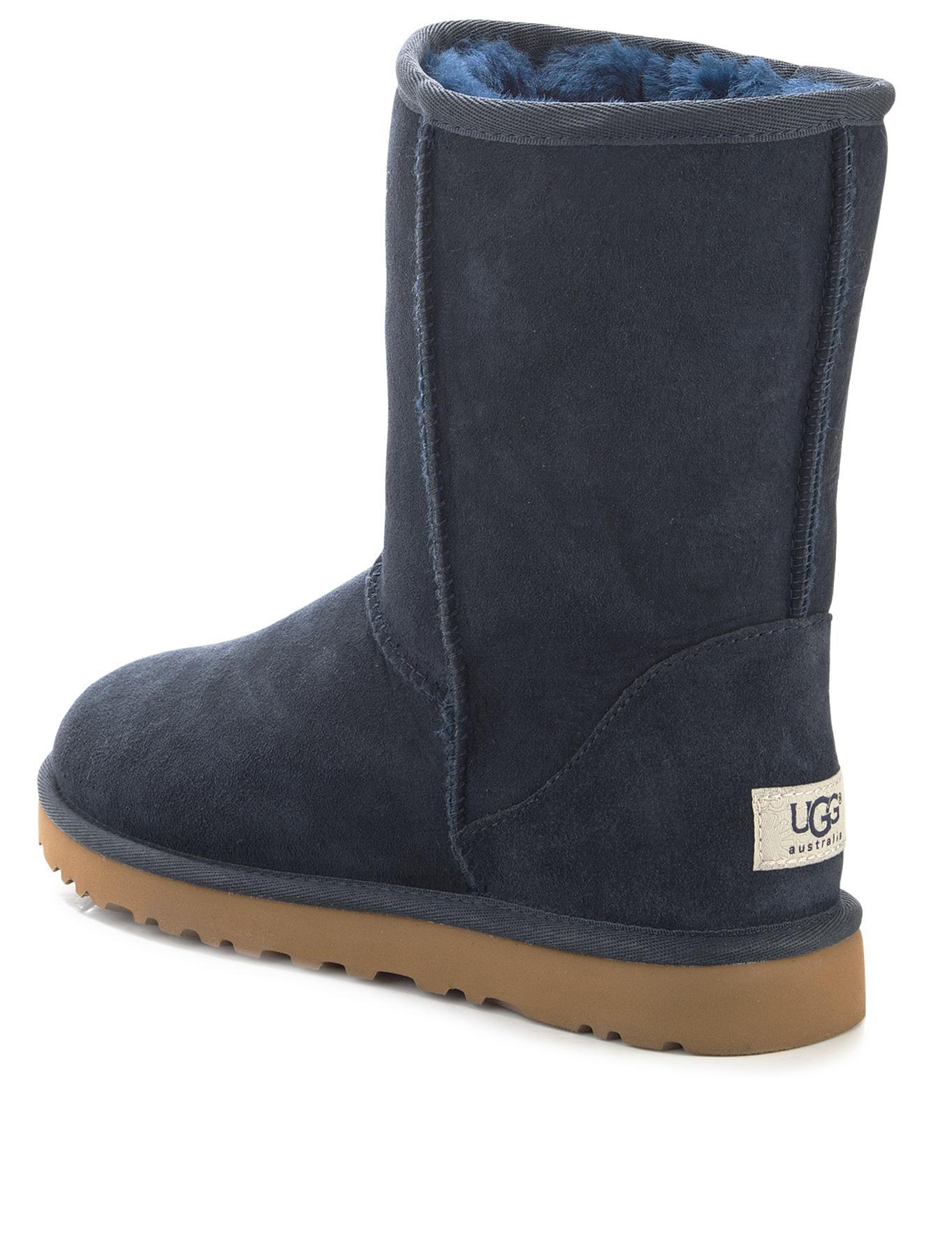 ugg classic short boots navy blue