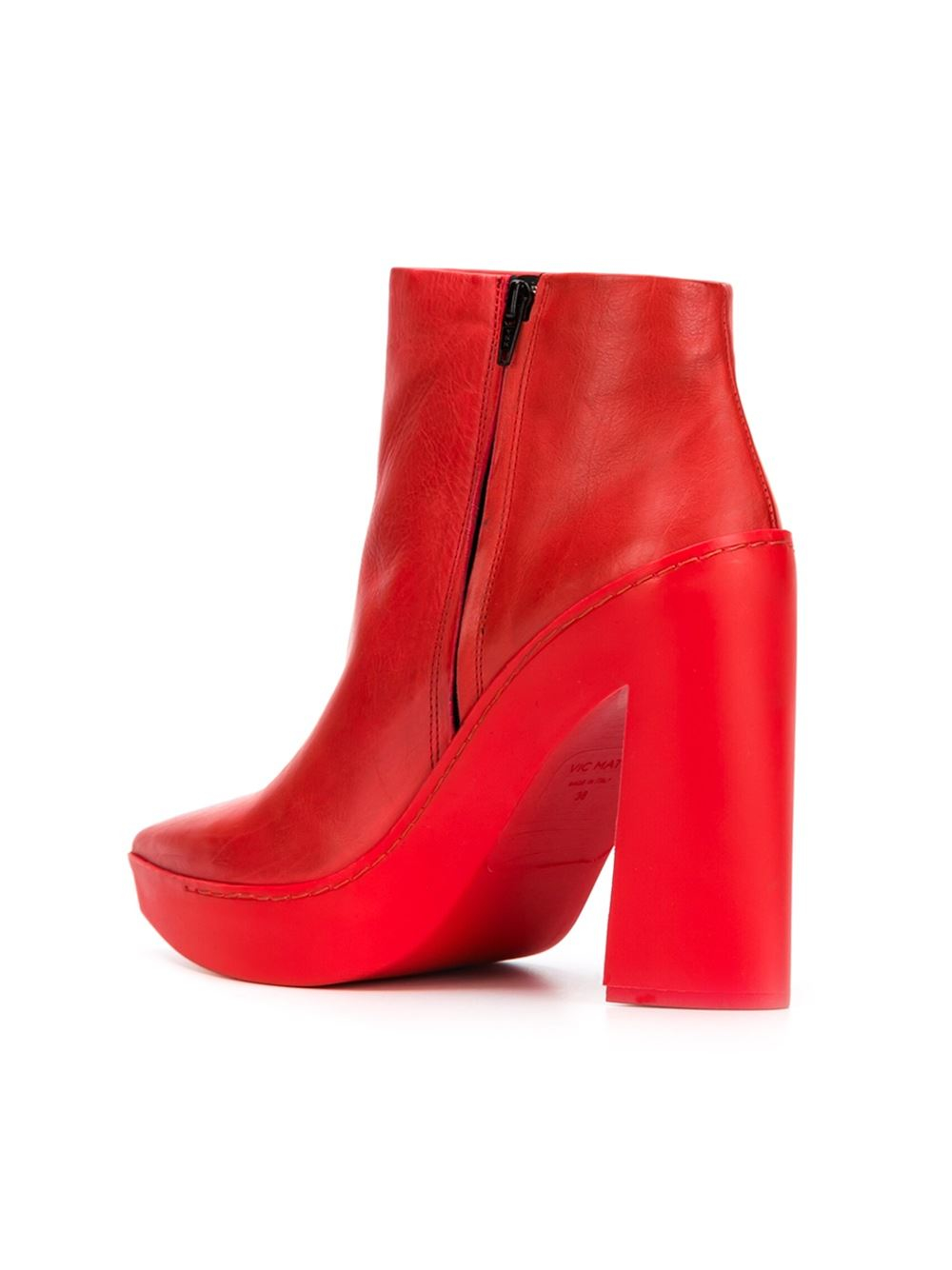 vic mati 233 chunky heel boots in lyst