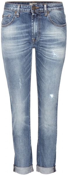 True Religion | Blue Grace Slouchy Skinny Boyfriend Jeans | Lyst