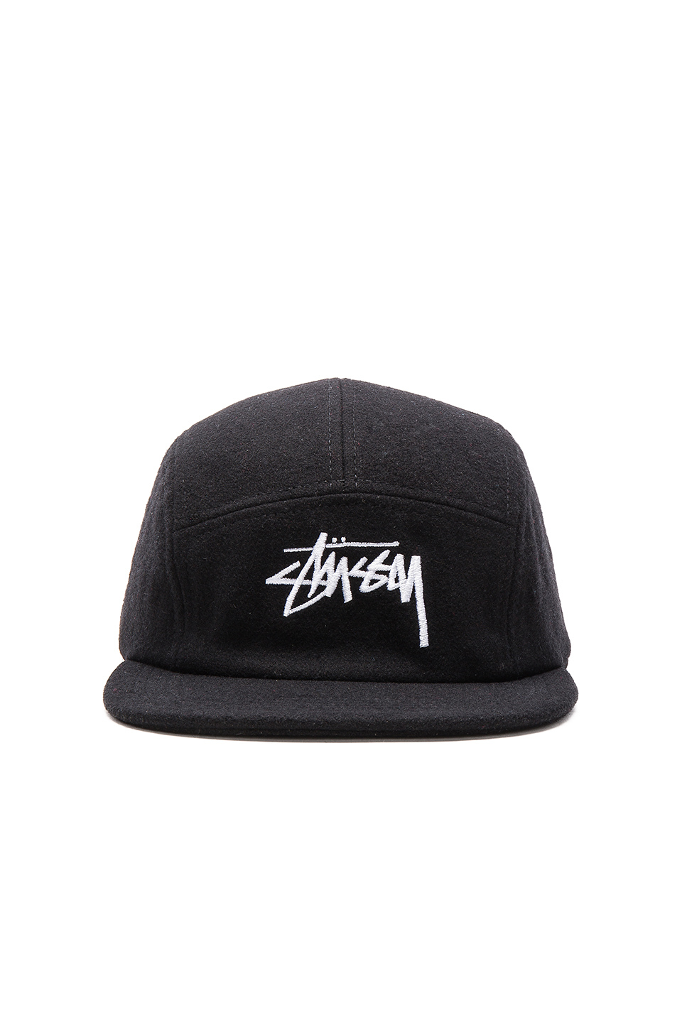 449eb468500 Lyst - Stussy Stock Wool Camp Cap in Black for Men