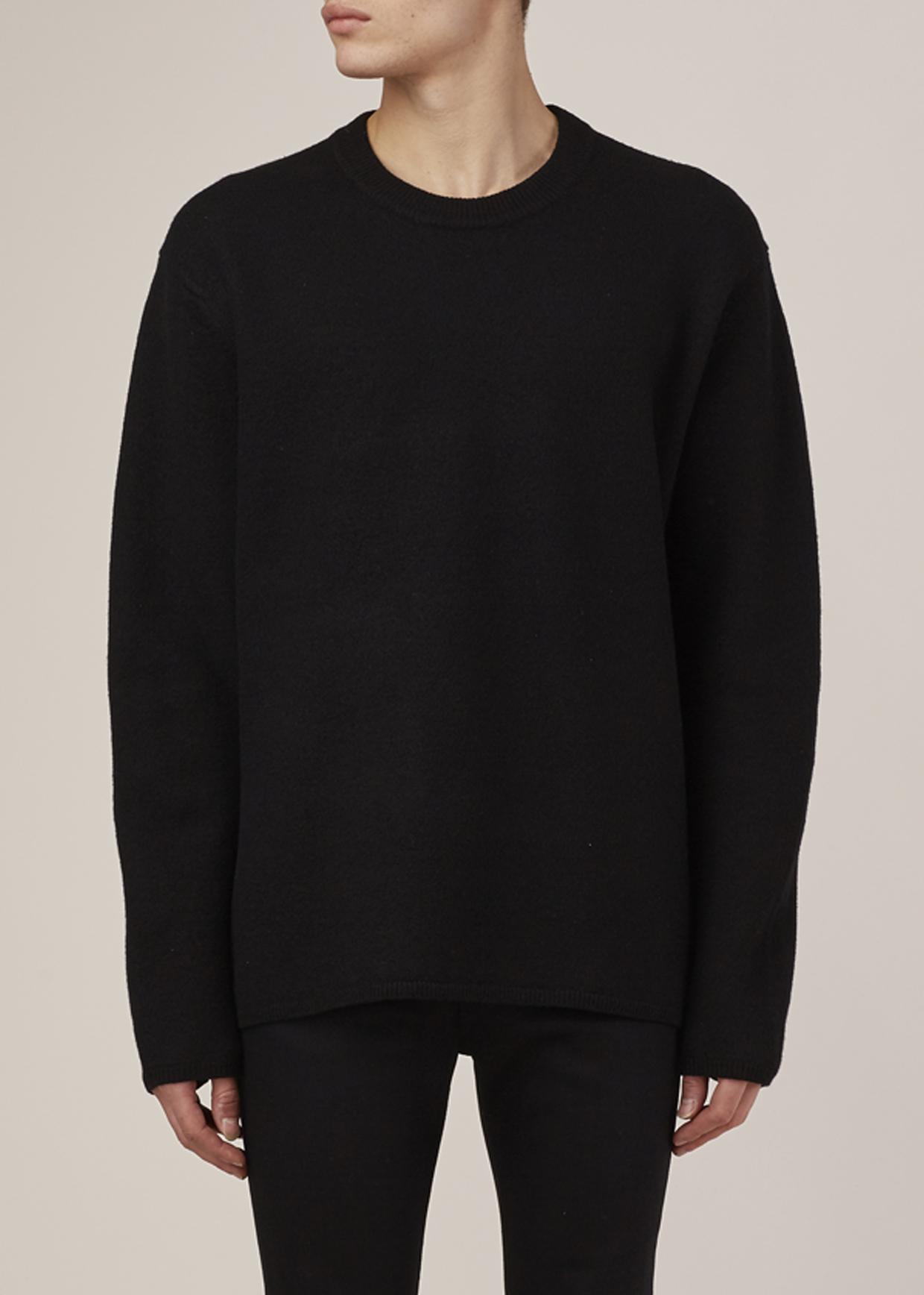 Acne studios Black Micha Pullover in Black for Men | Lyst