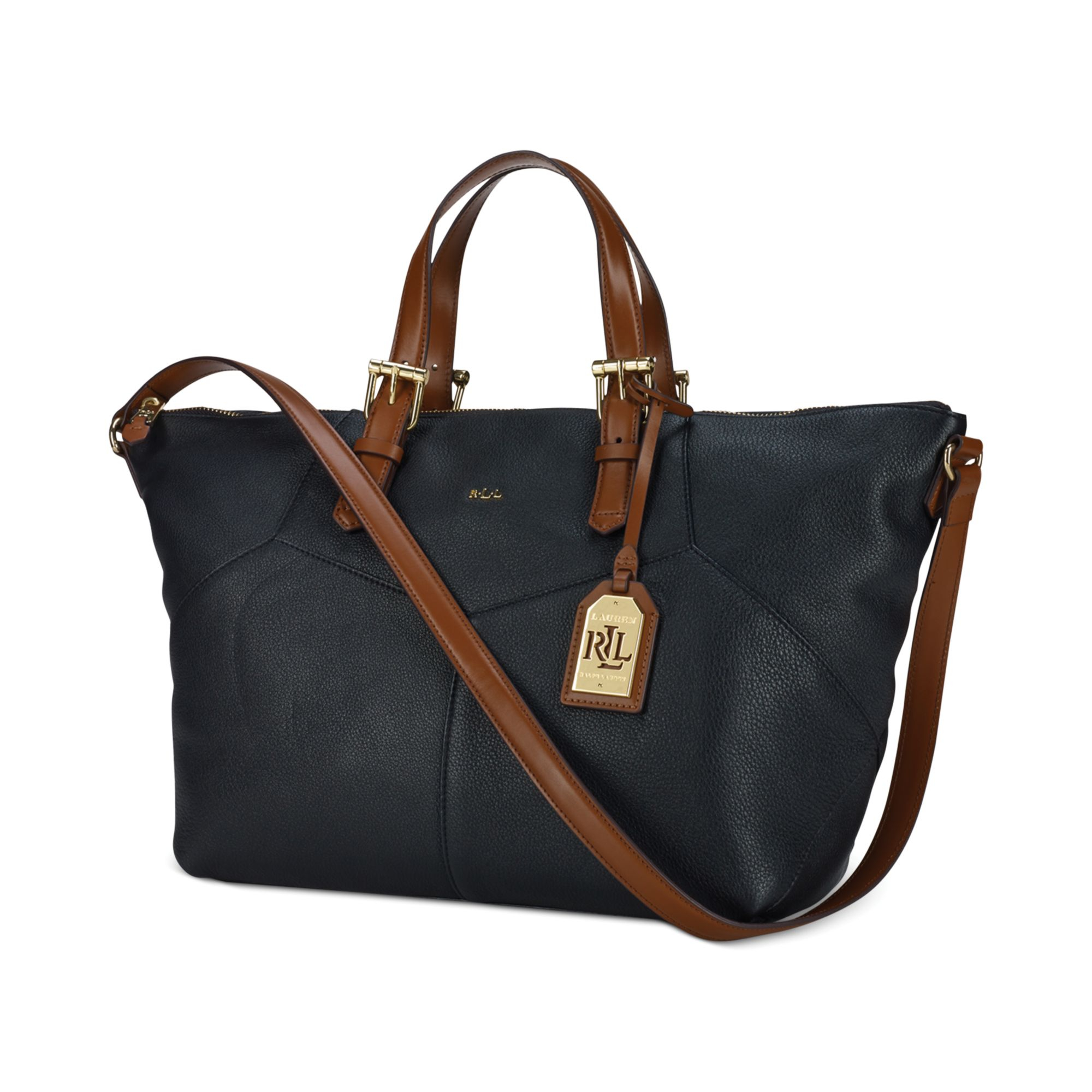 Ralph Lauren Tote Laukku : Lauren by ralph landry satchel tote in black