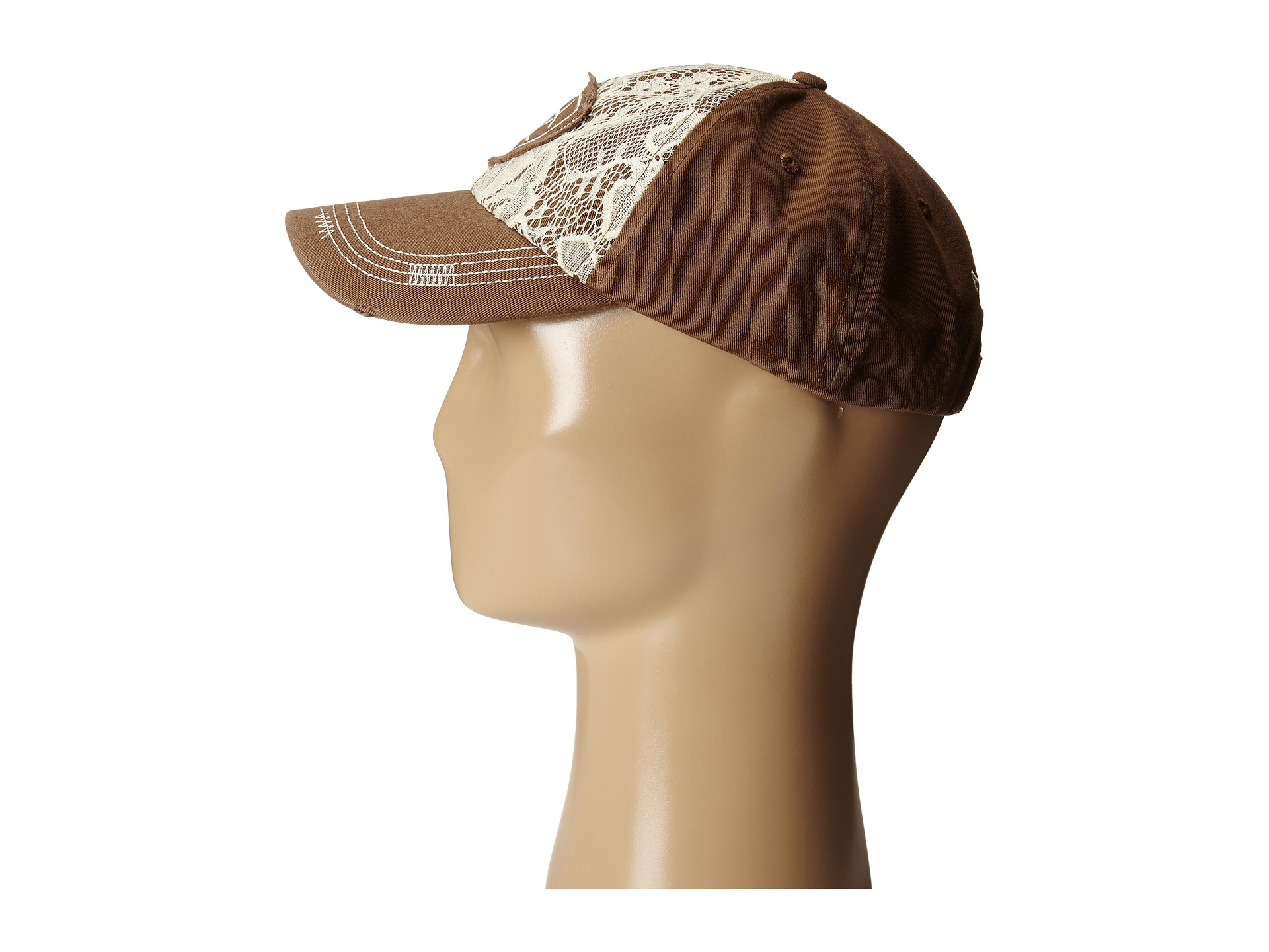 1b9936022695f ... sweden lyst ariat lace shield logo cap in brown 48afa a3b22 shop ariat  hat womens ...
