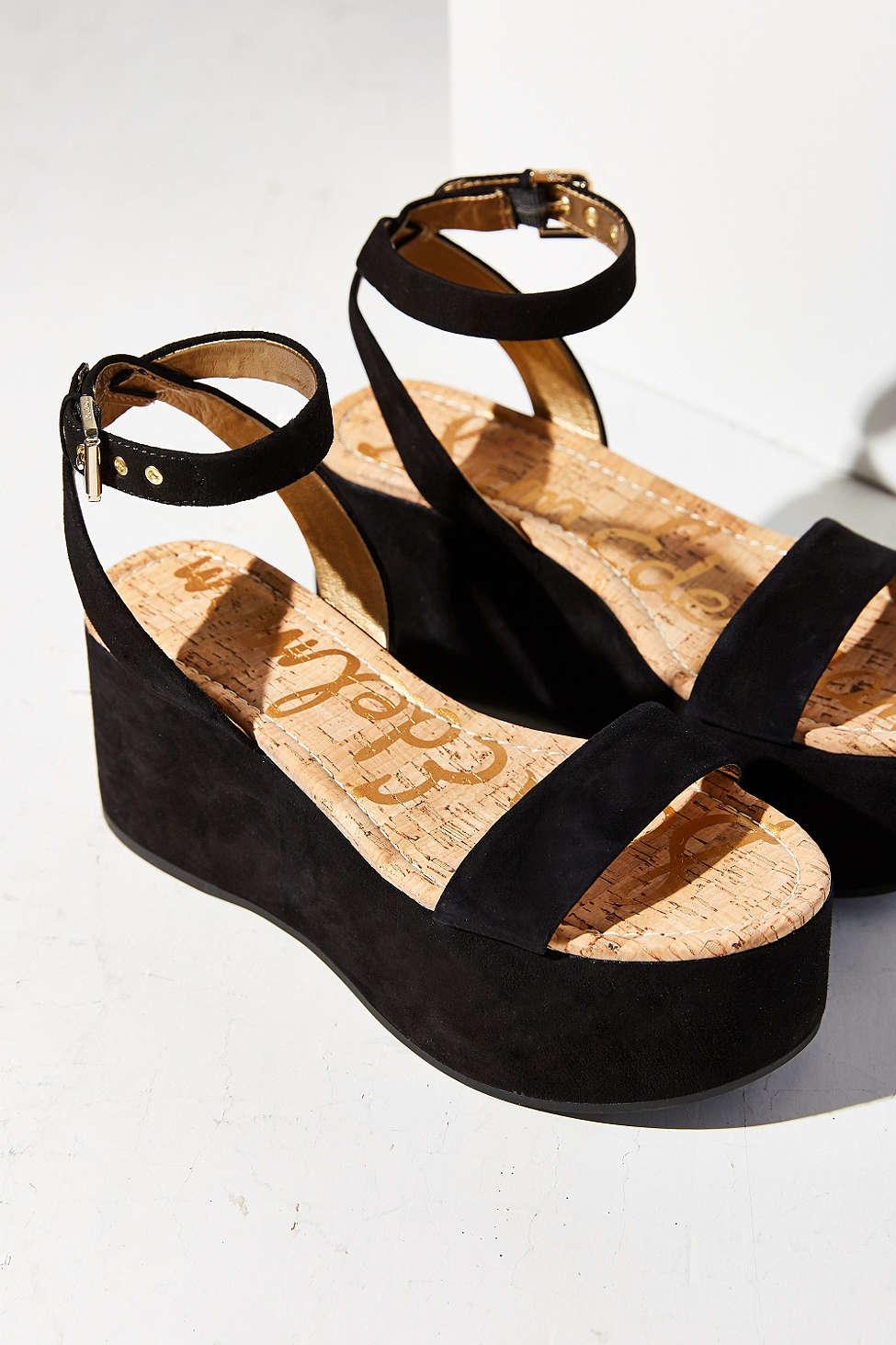 b16972a0254 Lyst - Sam Edelman Henley Platform Sandal in Black