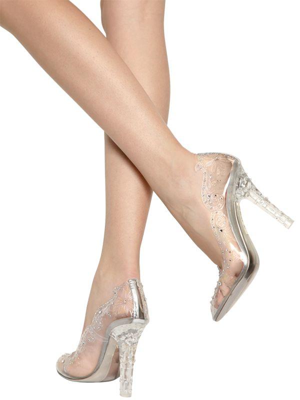 Lyst Dolce Amp Gabbana 105mm Cinderella Swarovski Pumps