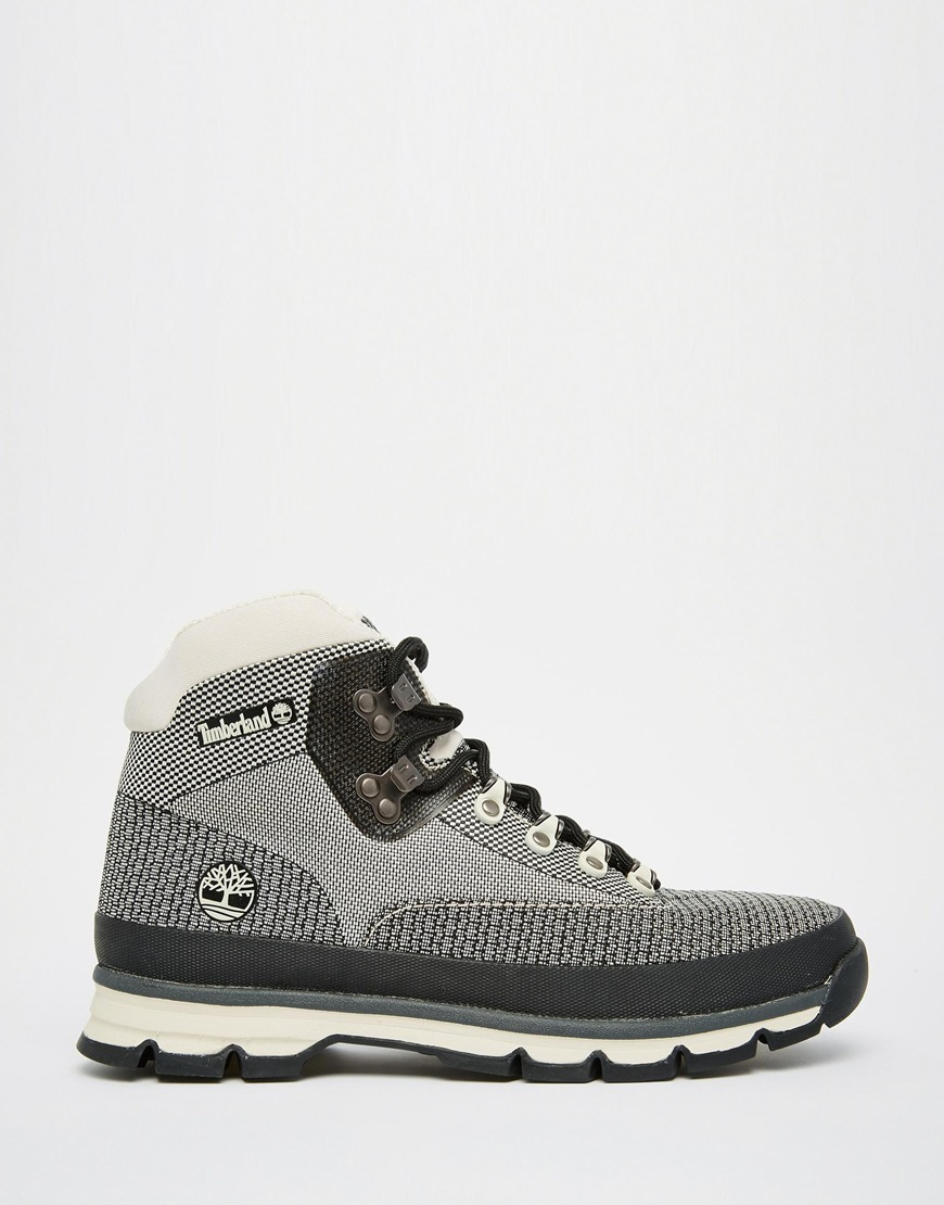 f531e1b3a25 Lyst - Timberland Euro Hiker Jacquard Boots in White for Men