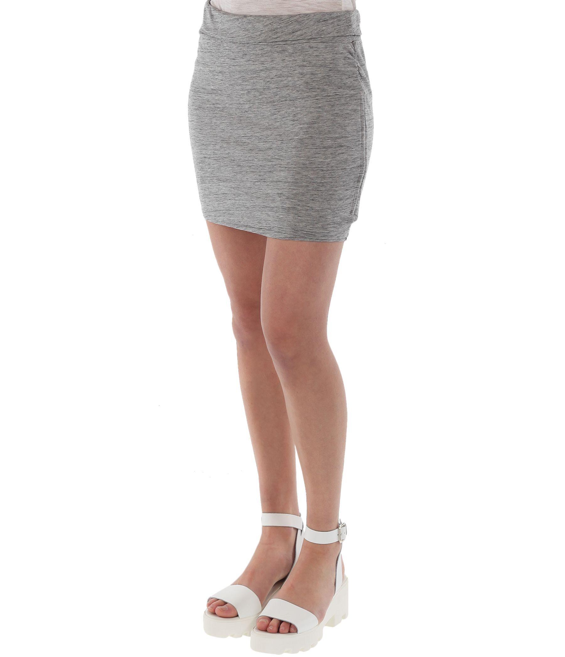 bench hosuni b mini skirt in gray lyst