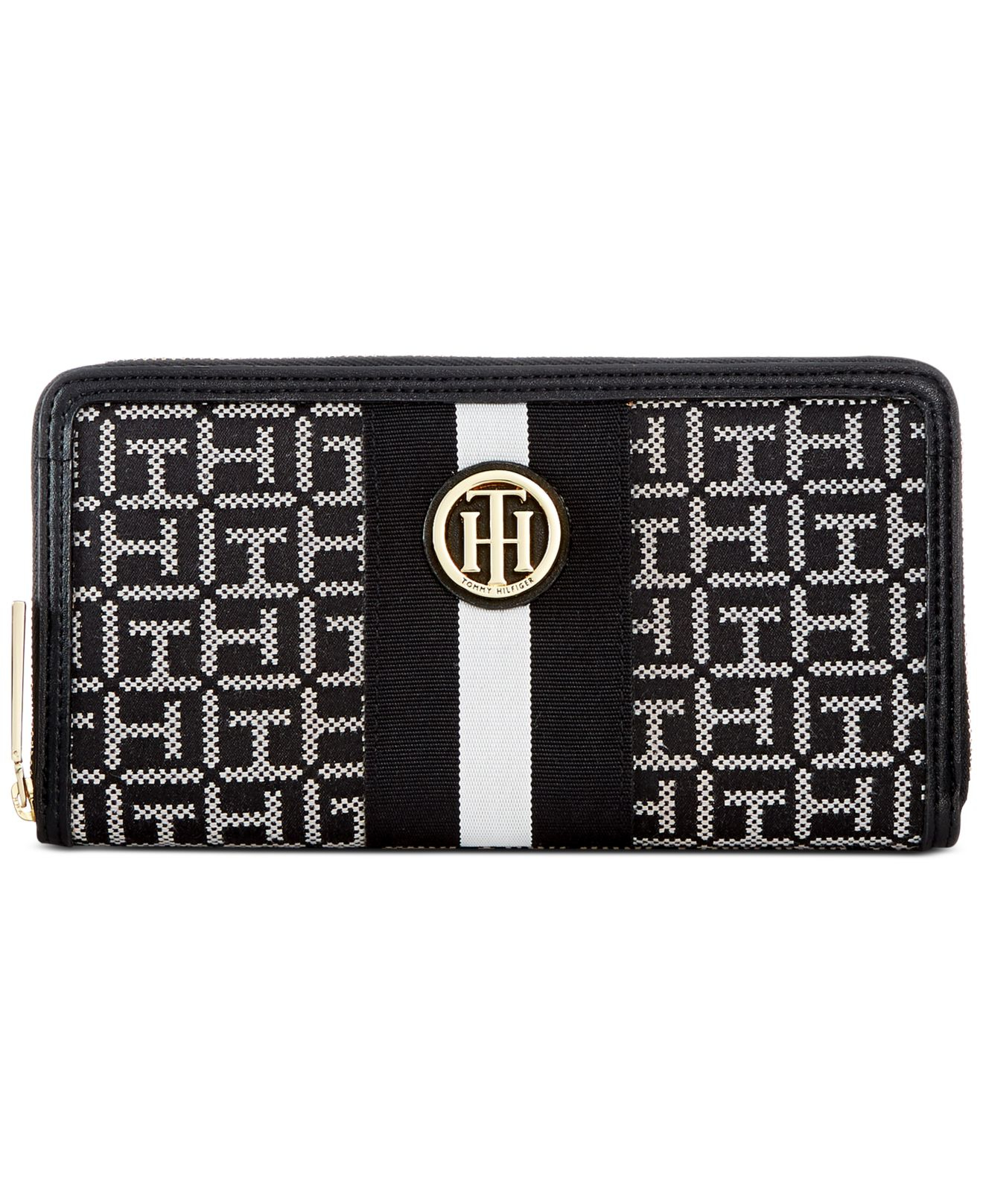 Large Monogram Zip Wallet - Sales Up to -50% Tommy Hilfiger