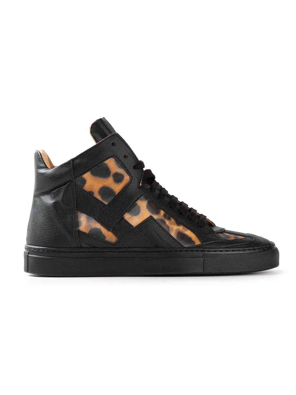 Mm6 by maison martin margiela leopard print hitop sneakers for Mm6 maison margiela