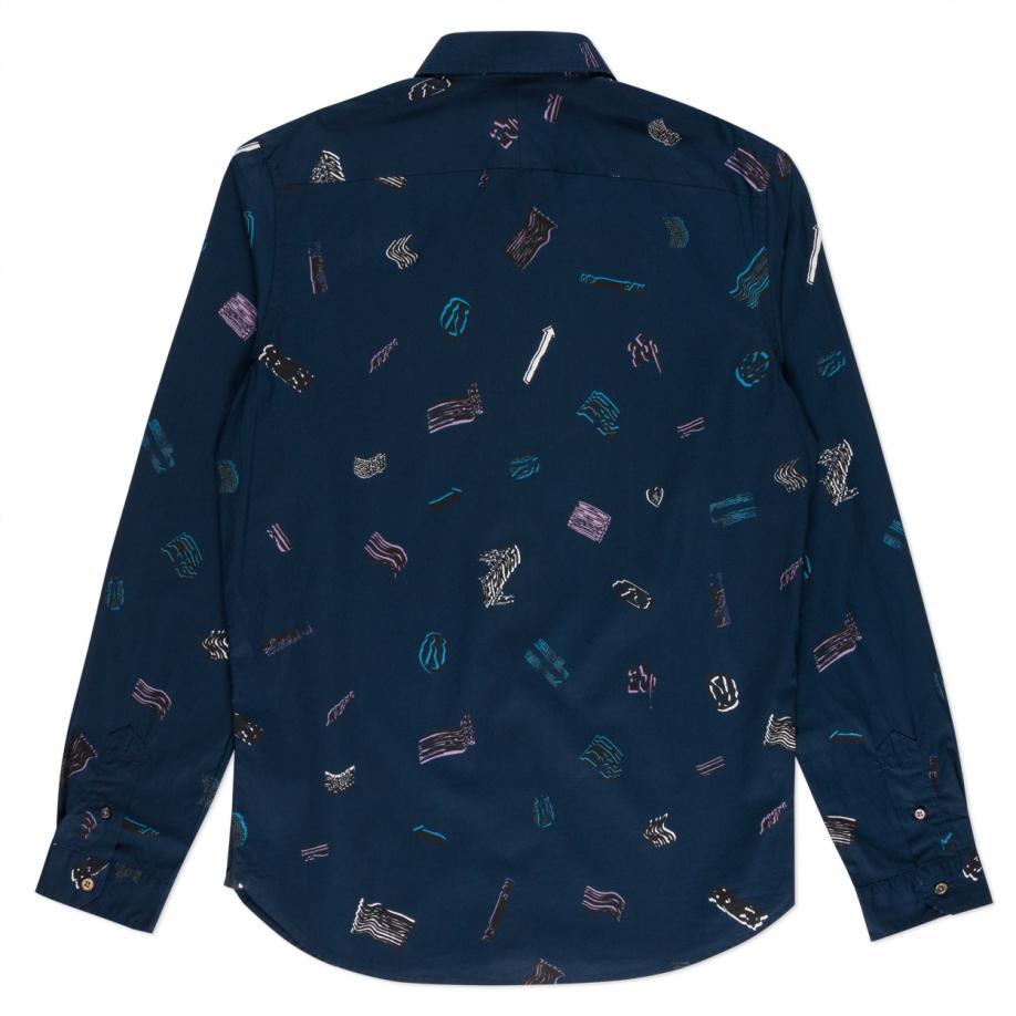 Paul Smith Men 39 S Navy 39 Dream 39 Print Button Down Shirt In
