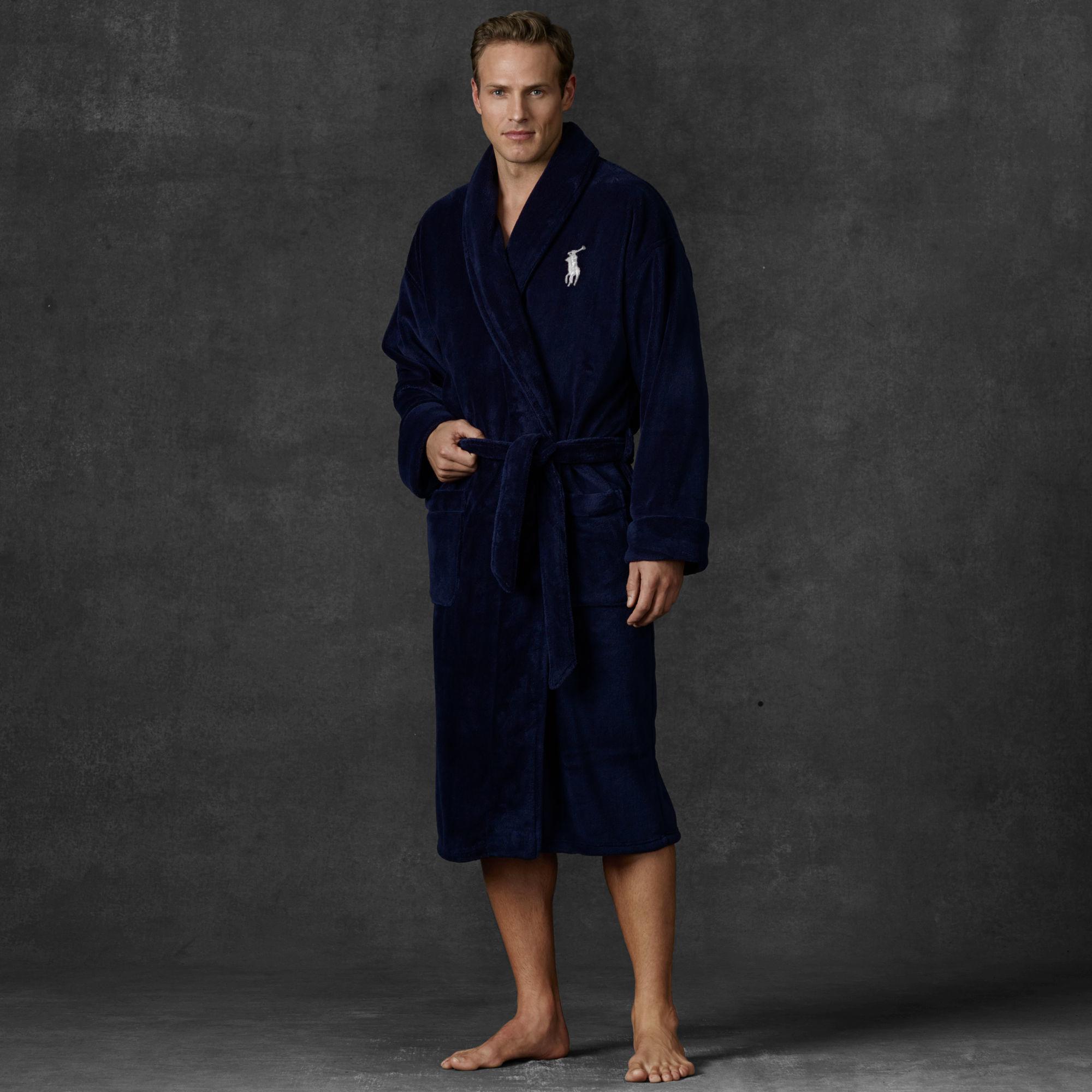 marein polo ralph lauren fleece shawl collar robe. Black Bedroom Furniture Sets. Home Design Ideas